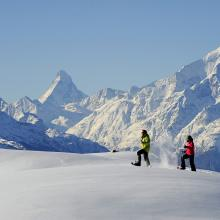 Schneeschuhlaufen Aletsch Arena
